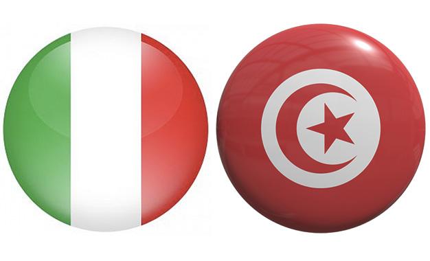 Italie-Tunisie-Drapeau