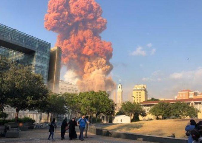 الانفجار في بيروت