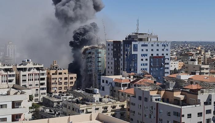 تدمير برج الجلاء /غزة